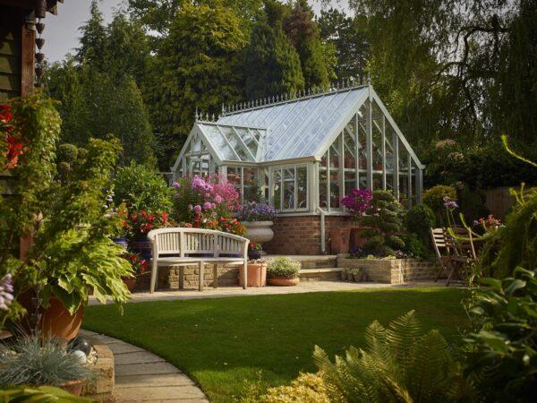engelskt premium växthus Botanic Lodge från Vansta