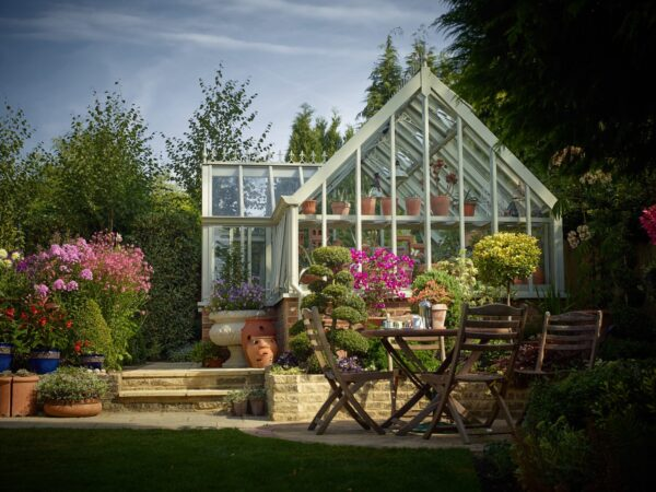 English superior greenhouse in aluminium