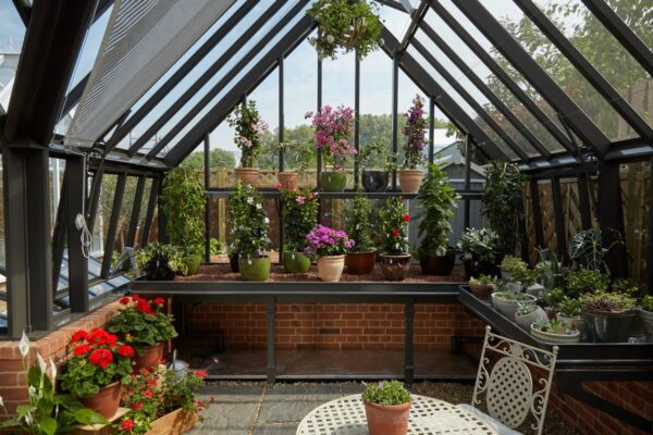 Den perfekta växthusinredningen i det perfekta växthuset