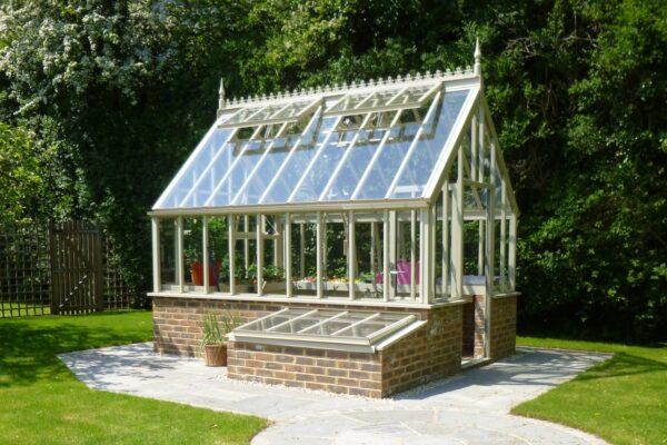 kallbänkar till Vanstas engelska växthus