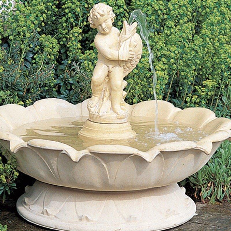 självcirkulerande fontäner i sten